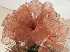Large Christmas Tree topper bow made with a  by creativelycarole, $30.00