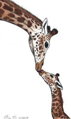 Giraffe Decor, Giraffe Art, Elephant Love, Baby Elephants, Indian Elephant, Horse Pencil Drawing, Giraffe Drawing, Baby Drawing, Animal Sketches