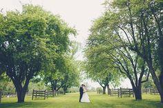 Matt + Laura - Brooke Courtney Photography // Bride + Groom // Light Pink Black White Wedding // Trees // Outdoor //