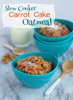 Slow Cooker Carrot Cake Oatmeal - Zak Designs Mealtime Blog