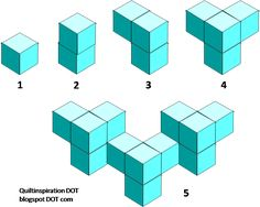 We are fascinated by tumbling blocks patterns and other optical illusions.  In a series of posts, we want to share with you some of the var...