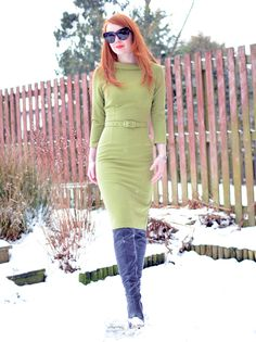 Pinup Couture Joanie dress and Topshop Barley boots