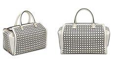 Victoria Beckham White Top Handle Bag