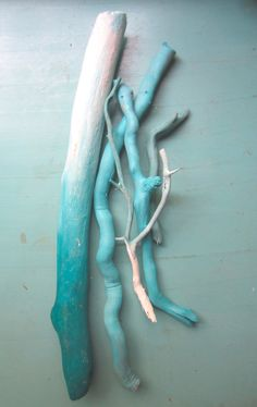 Ombre Painted Driftwood // Painted Sticks // vase filler // branches // colorful home decor // painted branches // pastel decor on Etsy, $28.00