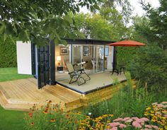 Shipping container sun room
