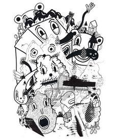 Coby Walsh: Alter Ego 1, 2014 #blackandwhite #cartoons www.kidsofdada.com/products/alter-ego-1-coby-walsh