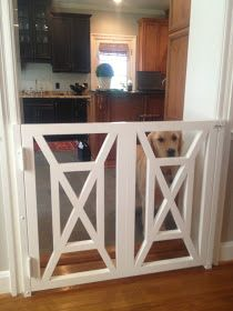 Superbe Dog Gate   Love This Idea! Instead Of An Ugly Baby Gate.