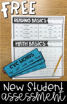 to assess your students on basic reading and math skills before writing their IEP or goals? I love to use this new student assessment to determine their present level of performance! Kindergarten Assessment, Reading Assessment, Formative Assessment, Reading Intervention, Kindergarten Classroom, First Grade Assessment, Classroom Ideas, Future Classroom, Classroom Organization