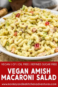 Amish Macaroni Salad, Creamy Macaroni Salad, Best Macaroni Salad, Veggie Recipes, Whole Food Recipes, Salad Recipes, Vegetarian Recipes, Veggie Meals, Pasta Recipes