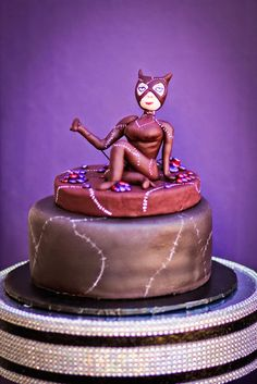 Catwoman cake The Girl With the Most Cake Pinterest Cake