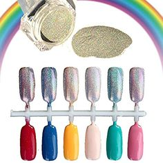 WILLTOO 15gBox Rainbow Holographic Nail Powder Laser Chrome Nail Glitter >>> For more information, visit image link. Note:It is Affiliate Link to Amazon.