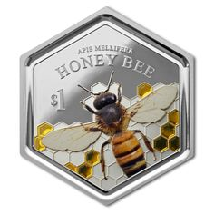 NEW ZEALAND COIN: New Zealand Features Honey Bee on World's First Silver Hexagonal Coin with Resin Inclusion. All very interesting but in the long run it'll be unpopular with those sharp corners making holes in pockets