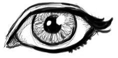 Finished Drawing Tutorial for Drawing Realistic Human Eyes