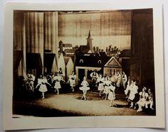 Rare Original Photo BALLET RUSSE DE MONTE CARLO Dancers On Stage COPPELIA