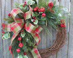 Navidad guirnalda buho guirnalda arpillera buho por HornsHandmade