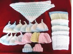 Lynda knitting for the premature baby charity. bonniebabies.co.uk/ The little blankets are only 6 inches square.