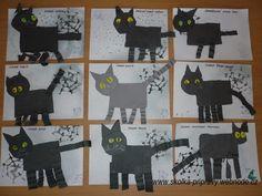 kocour čarodějnice Art Education, My Children, Halloween Party, Art Projects, Kindergarten, Moose Art, Witch, Crafts For Kids, Batman