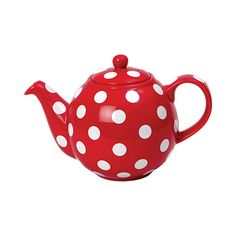 received this recently as a gift - red, polka dots, tea - whats not to love about this London Pottery design!
