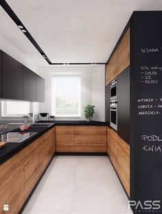 Contemporary wood Kitchen Interior Design is part of Kitchen cabinet design - Welcome to Office Furniture, in this moment I'm going to teach you about Contemporary wood Kitchen Interior Design Modern Kitchen Design, Interior Design Kitchen, Contemporary Kitchen Cabinets, Contemporary Interior, Interior Ideas, Contemporary Style, Flat Interior Design, Farmhouse Contemporary, Contemporary Stairs