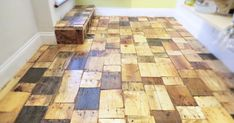 Our DIY Pallet-Wood Floor Cost Only $100 | Bored Panda