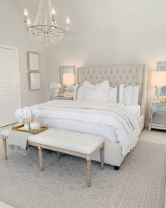 Home Decor Bedroom Elegant Master Bedroom Refresh with The Company Store The Decor Diet.Home Decor Bedroom Elegant Master Bedroom Refresh with The Company Store The Decor Diet Room Ideas Bedroom, Home Decor Bedroom, White Bedroom Decor, Bedroom Inspo, Couple Bedroom Decor, White Gold Bedroom, Cream And White Bedroom, Bed Rooms, Feminine Bedroom