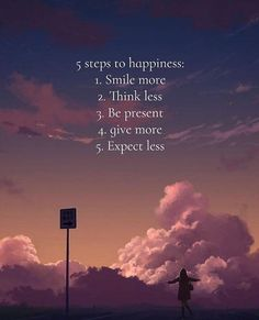 Positive Quotes : 5 steps to happiness..
