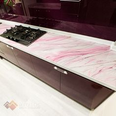 Metallic Epoxy Countertop Epoxy Countertop, Countertops, Black And Gold Marble, Pink Highlights, Epoxy Coating, Metallic, Design Ideas, Flooring, Purple