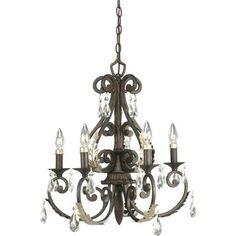 Thomasville Lighting 5 Light Savona Chandelier, Cognac X Tiffany Chandelier, 5 Light Chandelier, Chandeliers, Chandelier Ideas, Barn Lighting, Home Lighting, Lowes Home Improvements, Home Depot, Silver Highlights