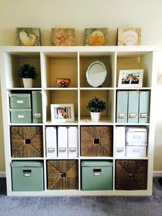Cube Storage Ideas Cube Storage Decorating Ideas Home Office White Ikea Kallax Expedit Bookcase White And Green Ikea Kassett Boxes Wire Cube Storage Ideas Home Office Storage, Home Office Organization, Home Office Design, Home Office Decor, Organization Ideas, Office Ideas, Office Shelving, Desk Ideas, Men Office