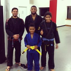 """""""Nasty"""" Nas moves up to Brazilian Jiu-Jitsu Yellow Belt. Nasir was one of our early kid students and we've seen him and his skills grow over the years! #BJJ #beltpromotion #nextgeneration"""