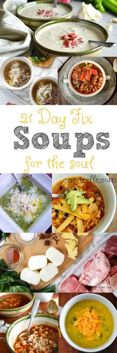 21 Day Fix Soup Recipes that are perfect for fall!