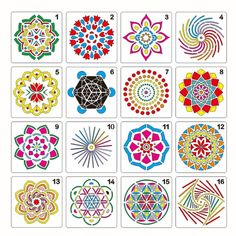 Details about mandala dot painting templates stencils for stone wall art canvas wood art Rock Painting Patterns, Painting Templates, Dot Art Painting, Mandala Painting, Stencil Painting, Stencil Templates, Stencil Diy, Stencils Mandala, Mandala Art Lesson