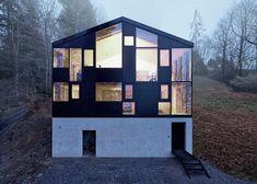 Architect Jochen Specht envelops a 1960s house in rural Austria behind a new facade