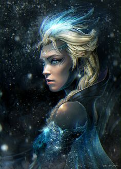Personal version of Elsa from last Disney movie 'Frozen'. #sorcerer #wizard #witch
