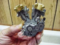 The worlds smallest working V2 engine.