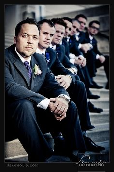 this one is cool if you have stairs or they could stand in a line going back for my brothers wedding