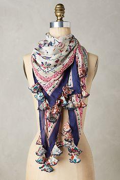 Serenella Silk Scarf #anthropologie.....fabric tassels.......Alice in wonderland scarf