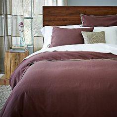 Linen Cotton Blend Duvet Cover + Shams - Raisin #WestElm $109 king