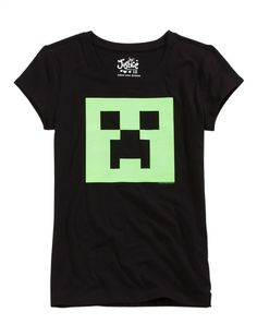 Minecraft Creeper Graphic Tee | Girls Graphic Tees Clothes | Shop Justice SIZE 14