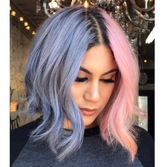 17 Stunning Hair Colours You Will Want To Try This Summer - ~hair~ - Hair Designs Two Color Hair, Cute Hair Colors, Bright Hair Colors, Beautiful Hair Color, Hair Dye Colors, Cool Hair Color, Bright Coloured Hair, Bright Purple Hair, Blue And Pink Hair