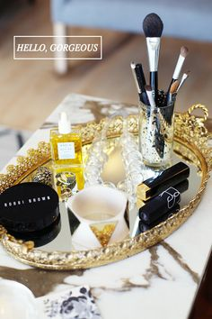 5 Gorgeous Mirrored Vanity Trays From Etsy