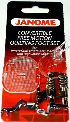 Sew Vac Direct  - Janome Convertible Free Motion Quilt Foot Set for High Shank Models, $50.00 (http://www.sewvacdirect.com/janome-convertible-free-motion-quilt-foot-set-for-high-shank-models/)