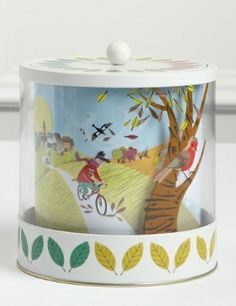 Marks and Spencer 4 Seasons Biscuit Tin with Mini Shortbread