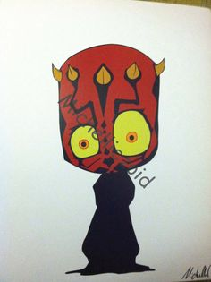 Darth Maul concept art print by michelliezoid on Etsy, $5.00