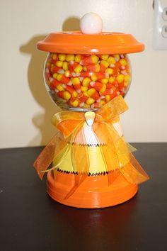 Clay pot candy jar.