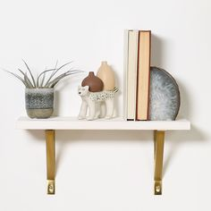 This classic wood shelf may take some extra elbow grease to create, but its white-washed surface will liven up your living space.