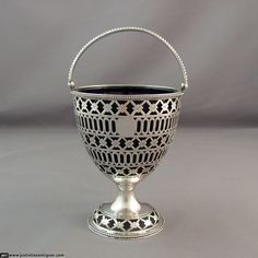 Hester Bateman Sugar Vase at J.H.Tee Antique Silver