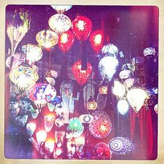 Blown Glass Lights in Istanbul