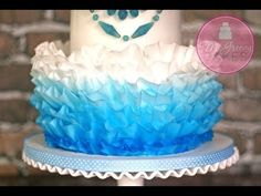 ▶ How to Make Wafer Paper Ruffles; By McGreevy Cakes - YouTube...and to think I was using GP all this time !