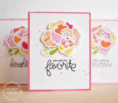 Card by PS DT Jocelyn Olson using PS Roses dies, Uplifters
